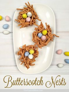 Butterscotch nests are the perfect NO bake Easter dessert for this year! Takes just minutes to make and are delicious!!