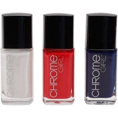 Montreal Canadiens Ladies 3-Pack Nail Polish - Navy Blue/White/Red