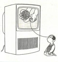 "my mom always says, ""TV rots your brain!"""