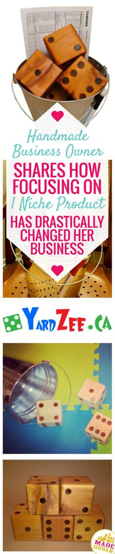 SELLER SPOTLIGHT WITH YARDZEE CANADA | This handmade business' traffic on Made Urban exploded when she switched from offering multiple handmade products to focusing on selling just one niche product. Learn how she did it and to order your Yardzee set!
