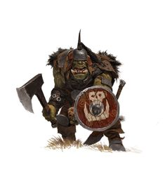 ArtStation - forgeworld/games workshop concept- orc with shield, adrian smith
