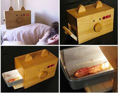 yes this is an alarm clock with bacon in it...Shut up and take my money !!!