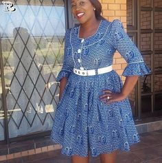 Latest Shweshwe 2020 for South Sotho Dresses - isishweshwe African Formal Dress, African Attire, African Wear, African Dress, African Style, African Beauty, Setswana Traditional Dresses, South African Traditional Dresses, Latest African Fashion Dresses