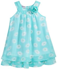 Blueberi Boulevard Floral Ruffle Dress, Toddler & Little Girls - Dresses - Kids & Baby Kids Dress Wear, Little Girl Dresses, Girls Dresses, Toddler Dress, Baby Dress, Ruffle Dress, Strapless Dress, Little Girl Fashion, Kids Fashion