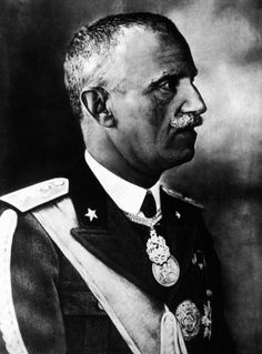 Vittorio Emanuele III, King of Italy (1900-46), Emperor of Ethiopia (1936-41), King of the Albanians (1939-43)  by Ghitta Carell