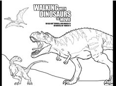 walking with dinosaurs coloring pages