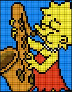 Lisa Simpson - The Simpsons perler bead pattern by Kyle McCoy