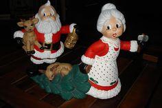 (¯`·._.· ♥♥♥ Hand Craft  ♥♥♥ ·._.·´¯): APURATE, que nos descubren...!!! Vintage Christmas, Christmas Holidays, Christmas Decorations, Holiday Decor, Clay Crafts, Diy And Crafts, Polymer Clay Christmas, Ceramic Bisque, Ceramic Painting
