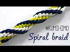 KUMIHIMO SPIRAL BRAID - TRENZADO EN ESPIRAL - YouTube