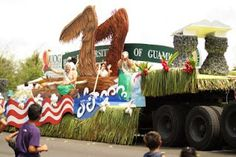 July 2009 - Guam Liberation Day Parade University of Guam Float. Liberation Day, Guam, Roots, 21st, University, Football, Island, Christmas Ornaments, Holiday Decor