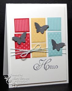 CC420 Bitty Buttlerflies by stampercamper - Cards and Paper Crafts at Splitcoaststampers