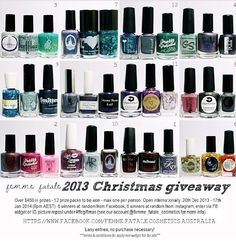 Awesome Giveaway going on at Femme Fatale Cosmetics and it's international!