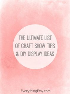Doesn't everyone love an good craft show??? I know I do! This is the season to share your crafts...