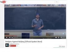 broc u education - youtube screenshot of badgers against bullying