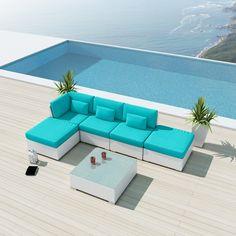 Uduka Porto 6 Outdoor Sectional Patio Furniture Sofa Set Sofa Set