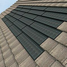 Nice. Solar-powered shingles that blend almost seamlessly with traditional roofing materials.