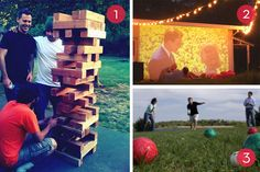 Roundup: 10 Fun DIY Backyard Entertainment Ideas » Curbly | DIY Design Community (includes lawn Twister, giant Jenga and Scrabble, plans for a corn hole set, outdoor movie night, s'mores buffet...)