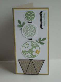 Stampin Up Topiary Card...click on picture for recipe of card