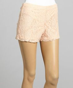 Look what I found on #zulily! Peach Floral Lace Shorts by Chris & Carol #zulilyfinds
