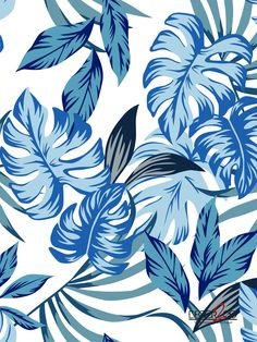 Find Tropic Exotic Palm Leaves Seamless Vector stock images in HD and millions of other royalty-free stock photos, illustrations and vectors in the Shutterstock collection. Motif Tropical, Tropical Plants, Vektor Muster, Illustration Mode, Blue Leaves, Vintage Stil, Print Wallpaper, Stock Foto, Vector File