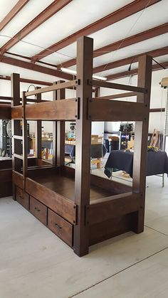 custom twin xl over twin xl bunk bed with drawer storage