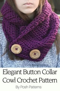Crochet Pattern - This incredibly cozy crochet cowl is pure bliss to wear. It's made with a soft, chunky yarn and it's super easy to crochet. Makes a wonderful beginner crochet project! By Posh Patterns.