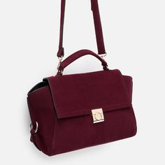 Image 3 of LEATHER CITY BAG from Zara