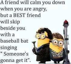 Comics and cartoons minions quotes life, best friend minion qu. - Comics and cartoons minions quotes life, best friend minion quotes, minions quote - Really Funny Memes, Funny Love, Stupid Funny Memes, Funny Relatable Memes, Funny Texts, Haha Funny, Funny Humor, Epic Texts, Friendship