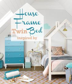 Check out the easy-to-follow plans for this fun bedframe from Amy at HerToolBelt.