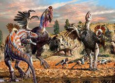 Dino-Chicken with Dino Friends