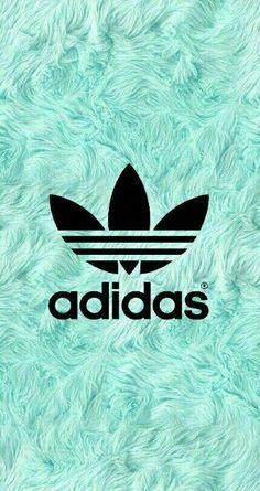 Blue hair background with adidas emblem adidas background