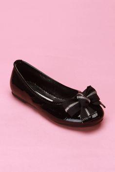 Laura Ashley Zipper Bow Flat