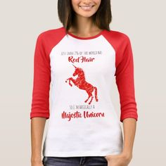 Redheads are Majestic Unicorns T-Shirt   pretty redhead girl, redhead kids, character inspiration redhead #redheadlove #redheadsforlife #redheadsunite, 4th of july party Redhead Memes, Redhead Funny, Redhead Day, Redhead Shirts, Pretty Redhead, Natural Redhead, Redhead Hairstyles, Majestic Unicorn, Girls Wardrobe
