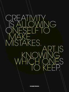Creativity is.....