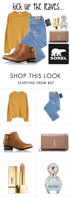 """""""Kick Up the Leaves (Stylishly) With SOREL: CONTEST ENTRY"""" by aepernell on Polyvore featuring SOREL, MANGO, Yves Saint Laurent, Marc Jacobs and sorelstyle"""