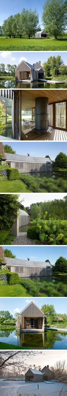 Lien entre architecture et environnement C'est en Flandre que la maison familiale Refuge a vu le jour en 2008. Ses propriétaires ont souhaité voir naître u