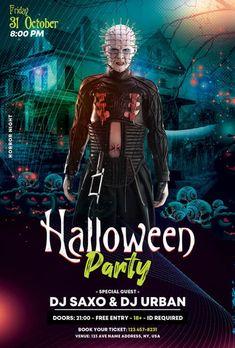 Download the Free Halloween Club Party PSD Flyer Template! - Free Club Flyer, Free Flyer Templates, Free Halloween Flyer, Free Party Flyer - #FreeClubFlyer, #FreeFlyerTemplates, #FreeHalloweenFlyer, #FreePartyFlyer - #Club, #Dance, #Disco, #DJ, #Electro, #Music, #Night, #Nightclub, #Party