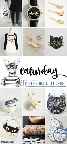 If you love cats as much as we do you totally get why Caturday is the very best day of the week. You& also going to fall in love with these fun, quirky gifts that only a cat lover can truly understand. Crazy Cat Lady, Crazy Cats, Cat Lover Gifts, Gift For Lover, Quirky Gifts, Cat Decor, Cat Crafts, Cat Jewelry, Fine Jewelry