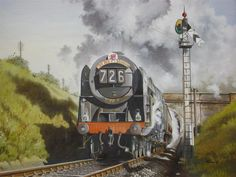 'Mercury at Patchway' by Michael Tunnicliffe. The painting depicts the up 'Red Dragon' South Wales Express as it leaves Patchway Tunnel