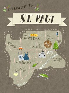 Welcome to St. Sights to see are the state fair and highland park, clearly. Minneapolis St Paul, Minneapolis Minnesota, White Bear Lake, Minnesota Home, Road Trip, Chicago, Twin Cities, Plans, Travel Posters