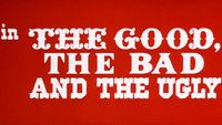 Opening Sequence, The Good, the Bad and the Ugly, Iginio Lardani, 1966. Use of multiple woodblock inspired typefaces and bold red collar http://www.artofthetitle.com/feature/a-fistful-of-titles-the-westerns-of-iginio/