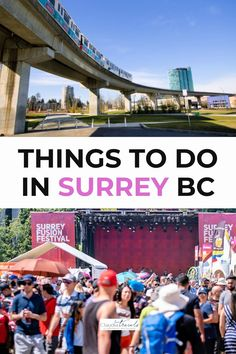 Looking for a fun day trip from Vancouver? From pumpkin patches to world-class music festivals, multi-ethnic cuisine and family-friendly attractions, we're sharing fun and cool things to do in Surrey British Columbia. West Coast Cities, Stuff To Do, Things To Do, Vancouver Travel, Pumpkin Patches, Music Festivals, Surrey, Day Trip, British Columbia