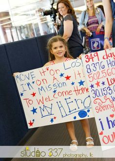 For Blondie to hold Military Welcome Home, Welcome Home Soldier, Welcome Home Daddy, Welcome Home Parties, Military Homecoming Signs, Homecoming Posters, Homecoming 2014, Homecoming Dresses, Welcome Home Posters