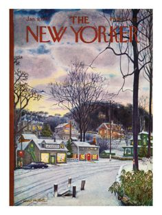 The New Yorker Cover - January 9, 1965 Poster Print by Albert Hubbell at the Condé Nast Collection
