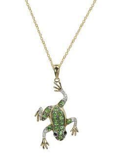 Jardin Tsavorite & Diamond Frog Pendant, .39 TCW  from Effy Jewelry #fun