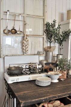 rustic kitchen. Perfect.