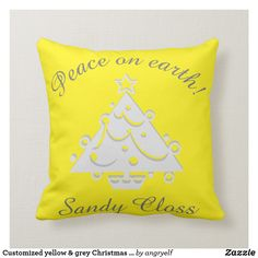 Rest your head on one of Zazzle's Tree decorative & custom throw pillows. Add comfort and transform any couch, bed or chair into the perfect space! Grey Christmas Tree, Yellow Pillows, Perfect Pillow, Room Interior, Accent Pillows, Decorative Throw Pillows, Home Decor, Decoration Home, Room Decor