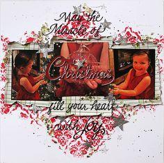 Scrap Savvy Creations: A Little Christmas Joy Little Christmas, Tim Holtz, Dear Friend, Scrapbook Layouts, Mixed Media, Joy, Projects, Log Projects, Blue Prints
