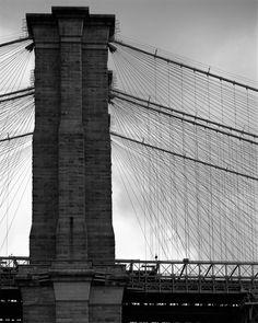 Large Format Photo - Side of Brooklyn Bridge | New York | Dave Beckerman