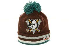 Anaheim Mighty Ducks Knit Beanie by Mitchell and Ness